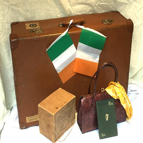 emigrant's luggage for the Irish ferry in WWII